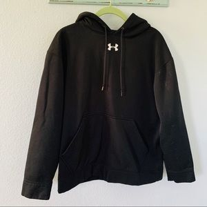 Under Armour Black Loose Fit Hoodie Sz Small